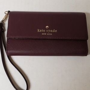 Kate Spade Burgundy Wristlet/Wallet